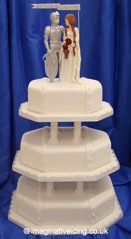 King Arthur and Gwnevere Wedding Cake
