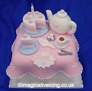 Tea Time Gift Cake - Birthday Cake / Thankyou / Mothers Day