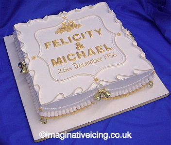 Golden Wedding Anniversary Cake Imaginative Icing Cakes