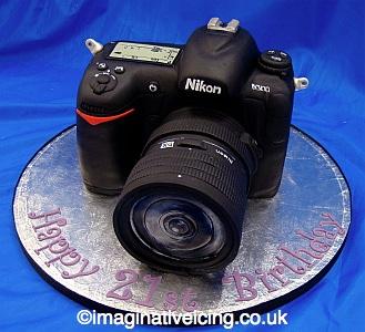 SLR Camera 3D Birthday Cake