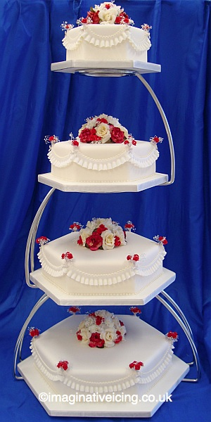 So In Love Wedding Cake