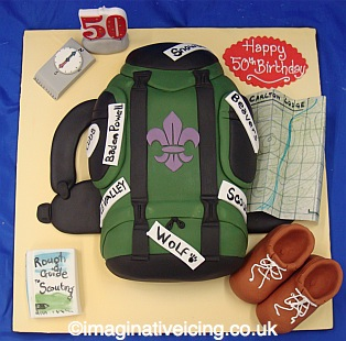 Scouting Backpack Rucksack Birthday Cake