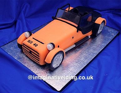caterham style sports car birthday cake