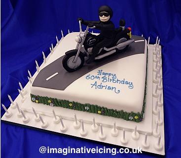 60th Birthday Harley Davidson Motor Bike Rider