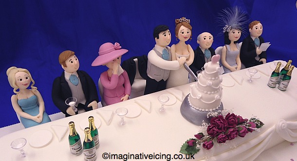 Wedding Top Table Cake figures