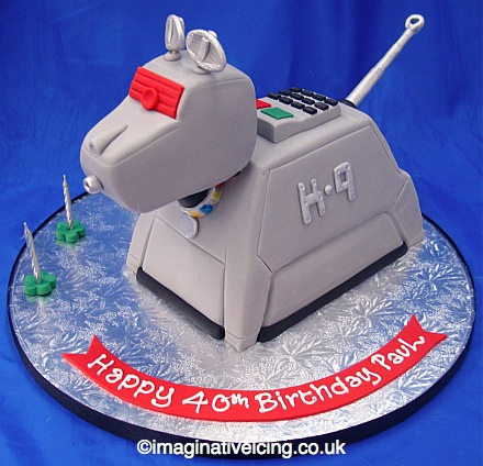 K9 shaped Birthday Cake Imaginative Icing Cakes Scarborough