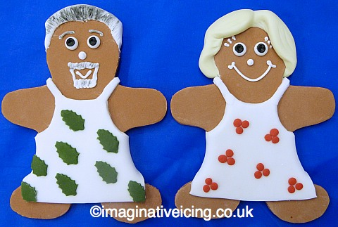 Holly & Berry gingerbread bakers - people