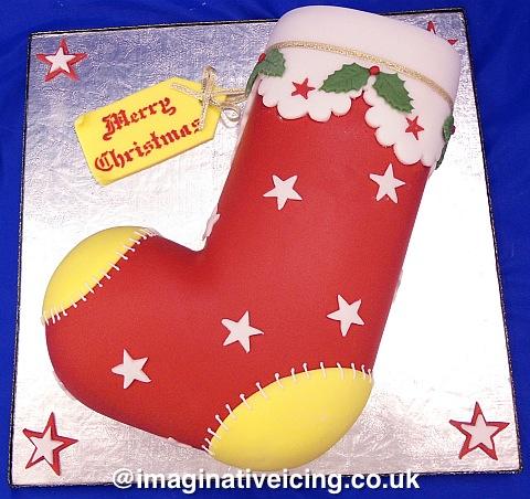 Christmas stocking Christmas cake
