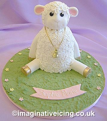 Baby Lamb Cake - Childs Birthday, Christening or Naming Day Cake