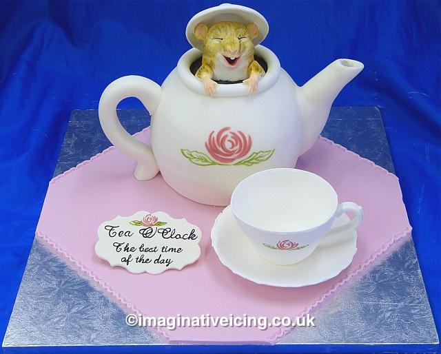 Dormouse in Teapot Cake