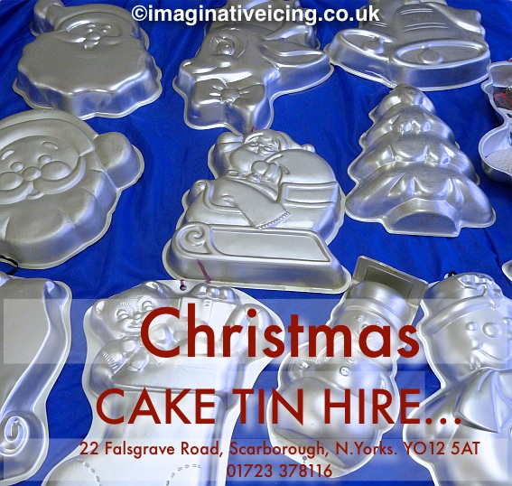 Christmas Cake Tin Hire available from 22 Falsgrave Road, Scarborough, North Yorkshire, YO12 5AT