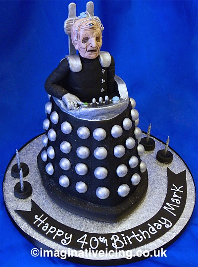 Davros Creator of the Daleks 3D Birthday Cake Dr Who