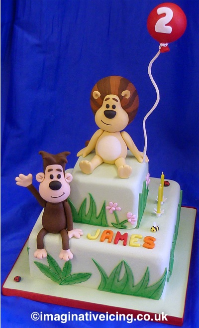 Raa Raa the Noisy Lion Birthday Cake Imaginative Icing Cakes