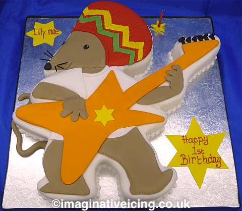 Rasta Mouse Birthday Cake
