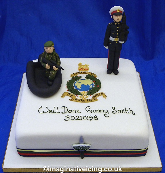 Royal Marines Commando - passing out celebration cake
