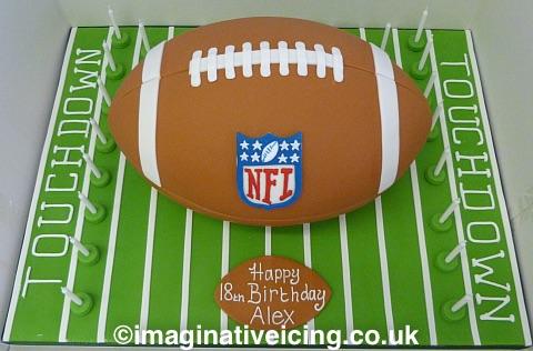 3d American Football Birthday Cake