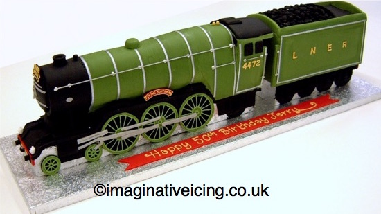 The Flying Scotsman - Steam Locomotive / Steam Train Cake