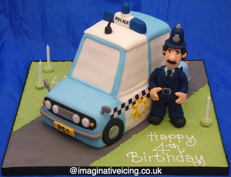Postman Pat Policeman Car Cake - Constable Selby